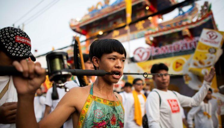 vegetarianskij festival v Tailande