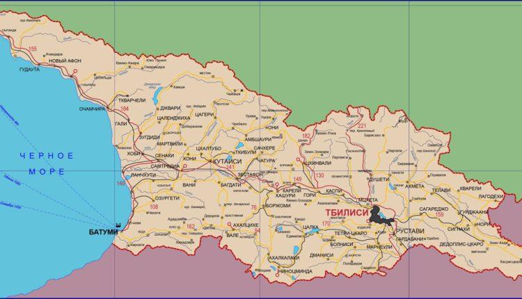 karta Gruzii na russkom yazyke