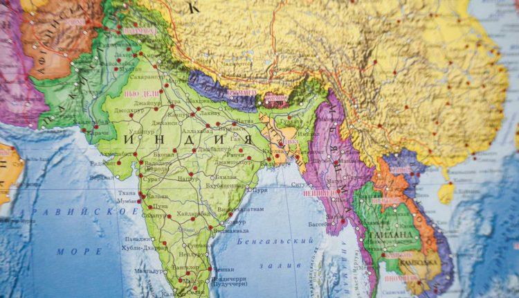karta Indii na russkom yazyke