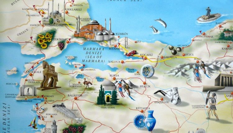 karta Turcii s dostoprimechatelnostyami na russkom yazyke 1