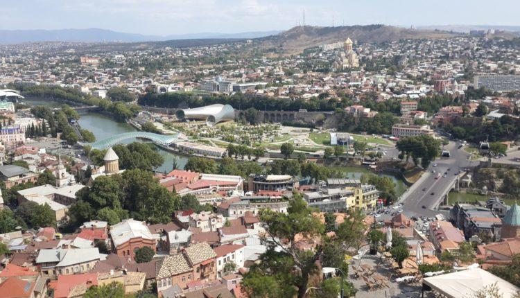 vid na Tbilisi sverhu